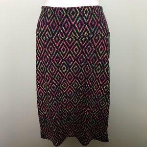 NWT Lularoe Cassie Geometric Print Pencil Skirt